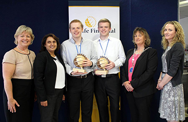 Sun Life Waterford awards two WIT students with a €1000 bursary