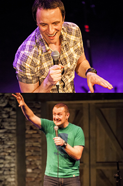 Comedians Gearoid Farrelly and PJ Gallagher