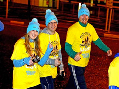 Sun Life employees enjoy the first Darkness into Light walk for Pieta House